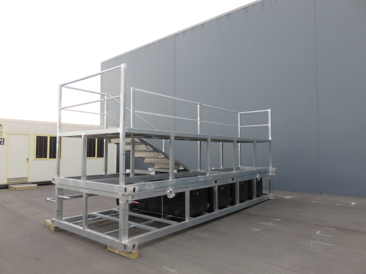 Ablution Waste Tank System with Access Steps