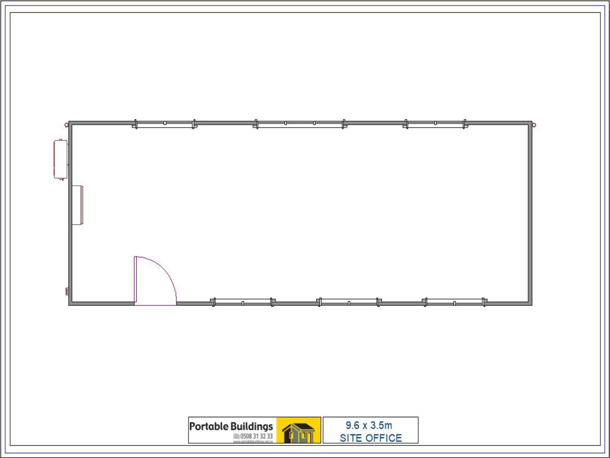 9.6x3.5m Site Office